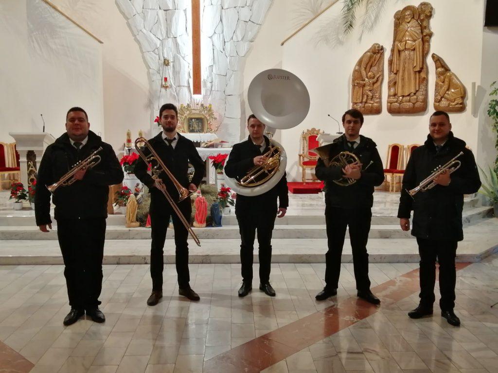 Kwintet zagrał w kościele